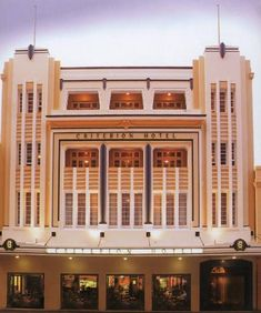 #ArtDeco | Criterion Hotel, Hay Street, Perth, Western Australia. Designed by Hobbs, Forbes and Partners, 1937.
