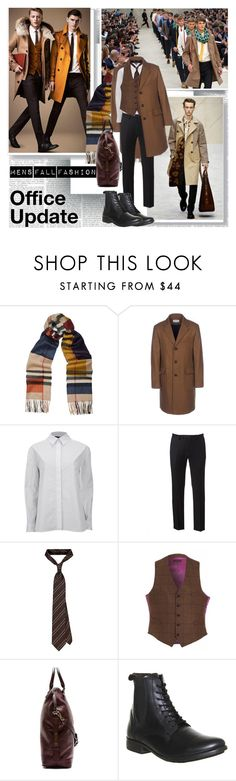 """Office Update Men's Fall"" by stylepersonal ❤ liked on Polyvore featuring Burberry, Oliver Spencer, Alexander Wang, Marc, HOLLAND ESQUIRE, Fly LONDON, MensFashion and fall2014"