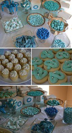 Monochromatic dessert table