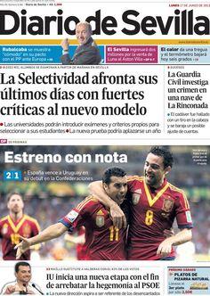 Los Titulares y Portadas de Noticias Destacadas Españolas del 17 de Junio de 2013 del Diario de Sevilla ¿Que le parecio esta Portada de este Diario Español?