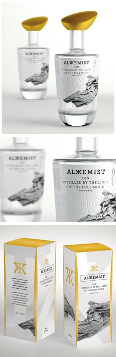 Series Nemo - Alkkemist Gin -World Packaging Design Society / 世界包裝設計社會 / Sociedad Mundial de Diseño de Empaques Premium Gin, Alcohol Bottles, Liquor Bottles, Beverage Packaging, Bottle Packaging, O Gin, Gin Brands, Craft Gin, Champagne