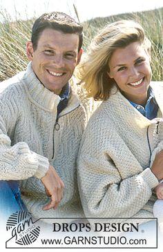 "DROPS Ladies and Mens Textured Sweater in ""Karisma Superwash"". ~ DROPS Design"