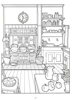 Album Archive - The Victorian House coloring book Coloring Pages For Grown Ups, Adult Coloring Book Pages, Coloring Pages To Print, Free Coloring Pages, Printable Coloring Pages, Coloring Sheets, Coloring Books, Food Coloring, Digi Stamps