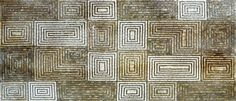 Look to this stunning Rectangular Spiral floor Insert and make a decorative statement in your decorative floor tile design. Crafting with the sectile technique large sections of marble and stone tile come together to give this mosaic a Roman flavor. Along with composing beautiful marble floors this artwork creates a unique wallpaper or one-of-a-kind wall mural. Mosaic Uses: Floors Walls or Tabletops both Indoor or Outdoor as well as wet places such as showers and Pools.