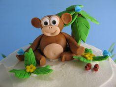 baby monkey cakes 1st birthday | blue cupcake: Monkey Cupcake Tower