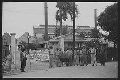 Yabucoa, Puerto Rico. Strikers near the sugar mill. Jan. 1942. Photographer: Jack Delano.