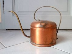 Vintage Copper Ornate Watering Can