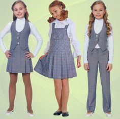 Какая бывает серая школьная форма. Интернет-магазин Kinderly.ru Girly Girl Outfits, Toddler Girl Outfits, Kids Outfits, Girls Fashion Clothes, Kids Fashion, Toddler School Uniforms, African Dresses For Kids, School Uniform Fashion, Baby Clothes Patterns
