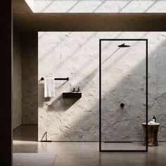Bath Collection Duschablage und Wandregal Nichba Design - Rebel Without Applause Dark Bathrooms, Bathroom Taps, Small Bathroom, Bathroom Black, Parisian Bathroom, Bathroom Blinds, Neutral Bathroom, Bathroom Showers, Bathroom Colors