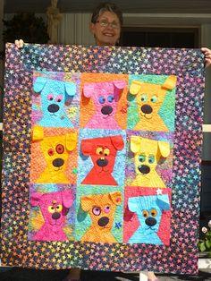 I saw Dog Daze featured in the November/December 2010 issue of Love of Quilting, and just knew I wanted to make it! My friend Denise Costanten runs Brigadoon Service Dogs in Bellingham, WA, and has an annual silent auction for contributions to enable them to accomplish their mission of 'offering a helping paw!' to those in need. Denise and her team train dogs to provide assistance to veterans, children and adults with physical, developmental disabilities, anxiety, post-traumatic stress…