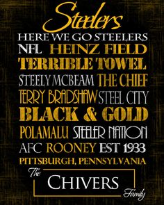 Pittsburgh Steelers Standout by SportingStandouts on Etsy, $60.00 -- need this one too in either stand out or print
