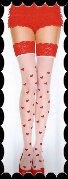Stockings - Queen Of Hearts - Lingerie - Categories