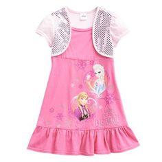 Disney Frozen Mock-Layer Anna & Elsa Dress - Girls 4-6x #Kohls #FrozenFunAtKohls