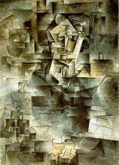 Reproduction de Picasso, Portrait de Daniel-Henry Kahnweiler. Tableau peint à la main dans nos ateliers. Peinture à l'huile sur toile.