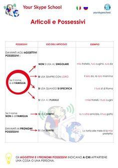 #articoli & #possessivi - your skype school materiali