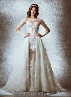 Amelia Sposa Lace Applique Princess Wedding Dresses Custom Make Berta Champagne Dubai Arabic Off Shoulder A Line Overskirt Wedding Gown Best Bridal Dresses Bridal Dress Designers From Gaogao8899, $167.84| Dhgate.Com