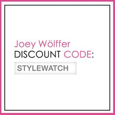 "From March 20 to April 17, enter ""STYLEWATCH"" at checkout for a 20% discount on the bags featured in this issue. #StyleHunters"