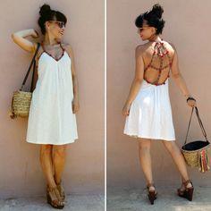 Pompon dress - Temporada: Primavera-Verano - Tags: dress, blogger, fashion, style, boho, look - Descripción: Vestido playero con pompones y espalda descubierta.