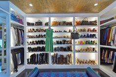 organized walk in wardrobe
