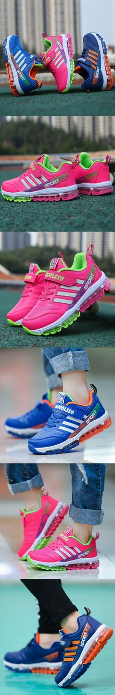 2016 leather Children Sport AIr cushion Breathable Boys Sneakers Kids Shoes for Girls and Boys casual Maxs Size 31-37 Running $26.88