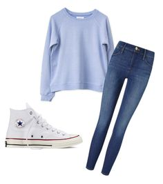 """""""Untitled #102"""" by amna107 ❤ liked on Polyvore featuring Frame Denim and Converse"""