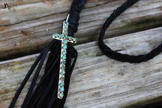 The Black Thin Cross Necklace is now available now at www.leatherandvodka.com! #theoriginal #leatherandvodka