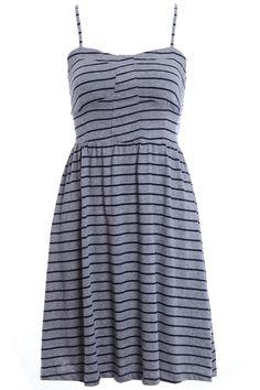 ROMWE | Striped Bandeau Dress, The Latest Street Fashion #ROMWE