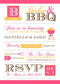 Baby Shower Invitations, Baby BBQ, I really think this is what we are going to be doing!!!