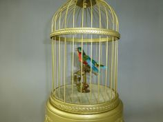 ANTIQUE-FRENCH-BONTEMS-SINGING-BIRD-CAGE-AUTOMATON-MUSIC-BOX-Watch-The-Videos