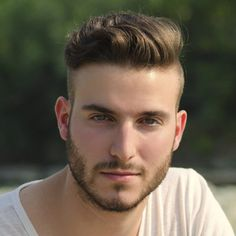 https://www.men-esthetics.com/ Slicked back hair with an undercut and beard is still going strong for 2014.