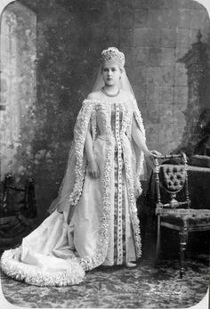 Princess Olga Repnin (in marriage. Leuchtenberg) in ceremonial dress maid of honor [Imperial] court