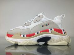 Purchase High-Quality UA Gucci Balenciaga Triple S Men and Womens Sneakers from Artemis Outlet with Affordable Cheap Price. Gucci Shoes Sneakers, Cl Shoes, Balenciaga Sneakers, Hype Shoes, Sneakers For Sale, White Sneakers, Me Too Shoes, Sneakers Nike, Look Fashion