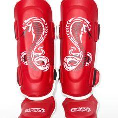 Kids Cobra Series Shin Insteps Red