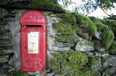 Free image of Red British post box Post Boxes Uk, Vintage Mailbox, Shop Window Displays, Box Uk, British, Stock Photos, Post Office, Royal Mail, Telephone