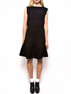 pretty in a rib boatneck dress by Rachel Comey