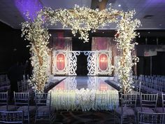 Stage decor with LED Walkway South Asian Wedding, How To Show Love, Walkway, Stage, Led, Seasons, Decor, Sidewalk, Seasons Of The Year
