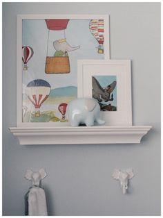 Project Nursery - Elephant hooks and prints