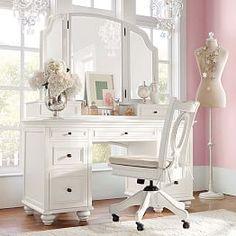 Classic white vanity