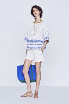 my linea weekend tile print tunic would look great styled like this for beach Vanessa Bruno Pre-Spring 2016 Collection