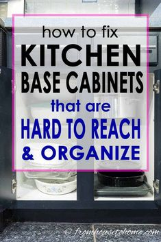 What a great way to get better kitchen organization! I never thought of converting my lower cabinet shelves to drawers but it's an awesome DIY kitchen cabinet storage hack. Kitchen Base Cabinets, Kitchen Cabinet Organization, Built In Cabinets, Diy Cabinets, Storage Cabinets, Kitchen Storage, Cabinet Ideas, Kitchen Shelves, Kitchen Cabinet Drawers