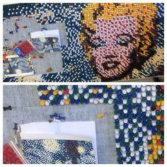 Work in Progress by an Art 20 & an Art 30 student. Push Pin Art, Group Projects, Arts Ed, Warhol, Creativity, Student, Sculpture, Education, Sculptures
