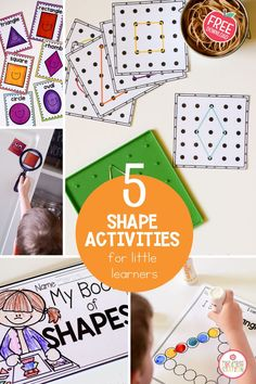 Shapes are everywhere and our little learners love pointing them out when they see them. Shapes are a big part of a preschool math curriculum. Add these free shape printables to your preschool math curriculum for your small group instruction and math stations. #shapes #preschool #math #freeresource
