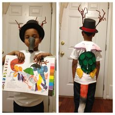 The Mixed Up Chameleon by Eric Carle.. My sons costume for book character's day at school!