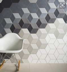 Absolute Collection — Avoir Glazed porcelain wall and floor tiles, now available for the first time as hexagons with accompanying hexagonal décor fittings. Available in six sizes, including mosaics, Avoir is a stand-out collection enhanced by its choice o Geometric Tiles, Hexagon Tiles, Hex Tile, Backsplash Tile, Geometric Patterns, 3d Tiles, Porcelain Wall Tiles, Rhombus Tile, Hexagon Tile Bathroom