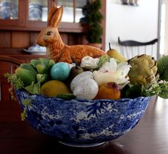 Easter Decorating From Vintage American Home Blog #Easter Decor Ideas  #Easter Bunny #Spring