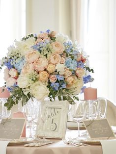 Blue Wedding, Wedding Colors, Wedding Decorations, Table Decorations, Wedding Designs, Wedding Ideas, Dusty Blue, Banquet, Shades Of Blue