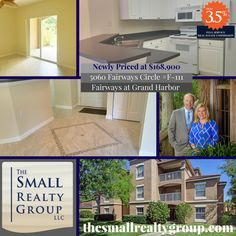 NEWLY PRICED!  Recently updated 3/2 ground floor, corner unit with lake view and a garage!  Perfect for year round living, seasonal visits or as an investment property.   Call Kim & Ron Small today for your private showing 772.480.4660! thesmallrealtygroup.com  #VeroBeach #thesmallrealtygroup #VeroBeachrealestate #Florida #loveVero #FairwaysAtGrandHarbor #beach Kim And Ron, Indian River County, Vero Beach Fl, Treasure Coast, Corner Unit, Investment Property, Lake View, Coastal Living, Ground Floor