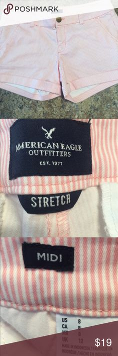 American eagle shorts midi size 8 Pink and white midi 8 NEW w/o tags American Eagle Outfitters Shorts