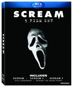 Scream: Five-Film Set (2011) ($17.18) http://www.amazon.com/exec/obidos/ASIN/B0057YUV6C/hpb2-20/ASIN/B0057YUV6C The Scream trilogy is the best thing any horror movie fan could ever ask for. - Any fan of any SCREAM movie will enjoy this box set which includes all three movies plus an extra DVD/DVD-ROM special feauture disc. - If you grew up in the 90's watching these 3 movies and love 'em as much as I do, then this is well worth the buy.