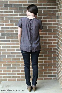 Silk Scout Tee Button Up Refashion - Swoodson Says